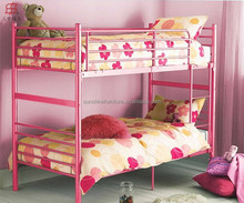 Bedroom Funirture White/Red/Black/Pink Metal Iron Kids Double Deck Bed