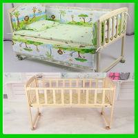 Design newest wooden adult baby crib , portable baby crib , baby rocking crib