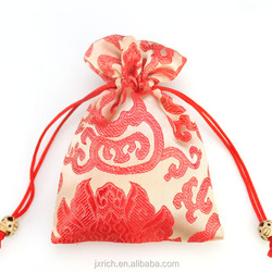2015 new year drawstring gift pouches with wrapping money