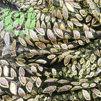 Lilac leopard glitter garment accessories manufacturers in china black tulle mesh fabric
