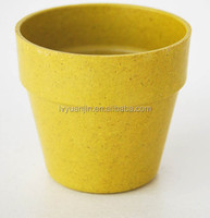 Round straw fiber Plant Pot/planter flower pot wholesale