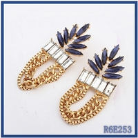 High End Alloy Popular Personality chains earrings wholesale gothic earrings thailand funny earrings