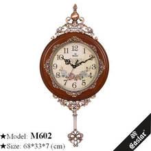 Arts and crafts wall clock real wood clock