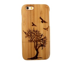 Wholesale Wood Mobile Phone Case For Iphone 6, For Iphone 6 Bamboo cell phone Case