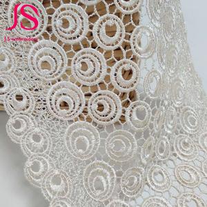 Variedades de largura branco bordado guipure rendas solúvel em água