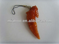 Personalized chicken wing shape usb flash drive PVC 2.0 gift usb for hotel