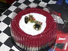 Christmas Towel Cake