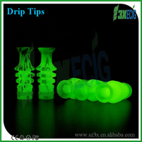 Newest Glow In The Dark Mouthpiece Screws Vase Drip Tips For 510