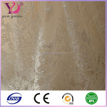 embroidered sheer voile curtain fabric embroidered net curtains For Wholesale From China