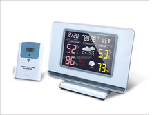 colorful weather station clock and LCD digital clock 2015