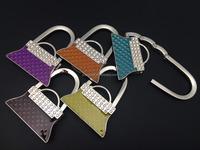High Grade Crystal Matcha Green Imitation Enamel Customized Bag Holder Handbag Hook Purse Hooks,Welcome to Add Logo
