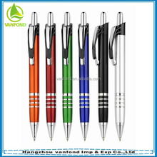 2015 fashion design plastic promotional ball pens with 4 rings