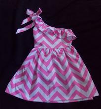 Spring summer Chevron Dress Spring Summer Dress Chevron pink&white /white&sky blue Dress