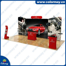 10ft Curve Fabric Exhibition Wall And Booth Tension Fabric Wall