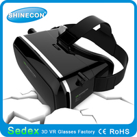 Shinecon vr google cardboard 2015 high quality 3d virtual helmet cheap headset remote best vr 3d glasses for Sumsung Galaxy Note