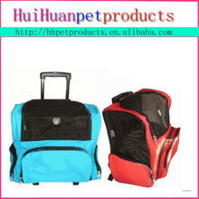 Fashion design pet luggage wheel dog cat carrier