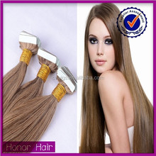 Alibaba high quality best selling can be customized virgin ombre tape hair extension