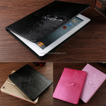 3D Solid crocodile pattern printed Magnetic Stand Leather PU Case For iPad 6 ipad 5 for ipad 234 for mini 23 smart cover