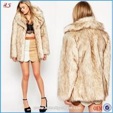 2015 new arrival latest coat design for women wear vintage faux fur coat