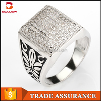 small order accepted fashion accessories with rhodium plating ring for stock jewelry