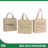 Promotional Gift Jute Burlap Tote Bag