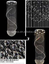 High Quality Modern Spiral Down Crystal chandelier lighting