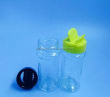 60/100ml plastic spice bottle plastic salt&pepper shaker bottle with butterfly plastic caps