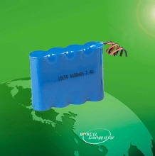 High quality lithium ion battery 1x18650 / 18650 7.4v 4400mah lithium rechargeable battery
