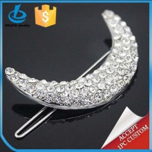 Popular fashion hair accessory, moon shape metal pin, hair pin