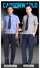 Uniforme de guardia de seguridad manga corta de color para el verano