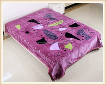 100% polyester embroidered fleece blankets