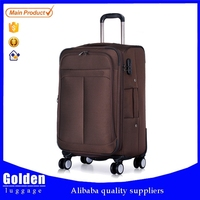 2015 nylon oxford vintage soft trolley luggage wholesale super light quality travel luggage for sale