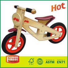 high five green forest wooden balance bike toddler bike