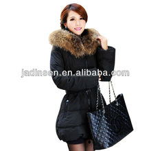 genuine duck down jackets with hoodies for woman