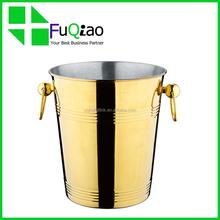Trade Assurance Barware Coolers golden metal plastic wine champagne ice bucket