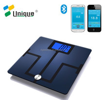 body weigh scale with Large Backlit LCD and Smartphone Tracking/body fat scale for athletes