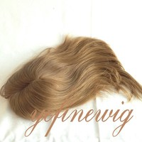 Natural Straight Russian Human Hair Silk Top Topper