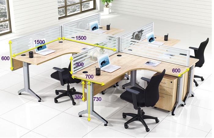 Bon prix commercial mode cabine meubles en bois mobilier de bureau poste de travail cloison de - Mobilier de bureau a vendre ...