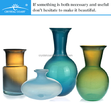 different types decoration glass vase,hand blown glass vase