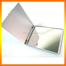 Material Aluminum & Glass Metal Pocket Mirror,Frame Makeup Mirror