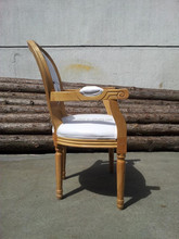 Louis,Antique,French,White wash finish solid wood frame and legs,HT13-045F/Dining room chair