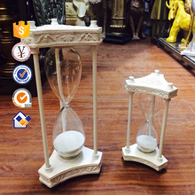 Modern art resin sand timer hourglass,big 1 hour hourglass and mini hourglass