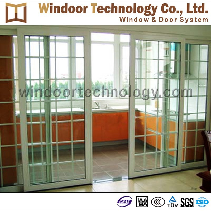 Economical Type White Pvc Glass Sliding Door With Cheap