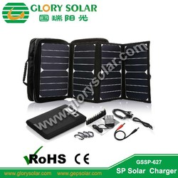 16000mAh foldable solar panel/solar charger bag for tablet and laptop with battery