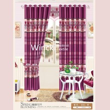 Colorful 100% polyester blackout printing curtain, window curtain