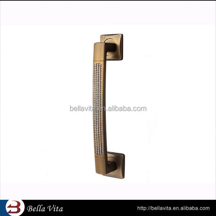 2014 Nice Design utiles bambou poignées de porte, Diamant poignées de porte