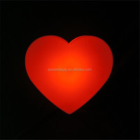 New hot red LED heart wall lamp with remote control