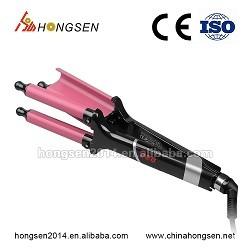 Dongguan Wholesale professional bella custom lcd display rotating hair curler