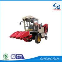 self propelled 3 rows mini corn combine harvester for sale, used combine harvester