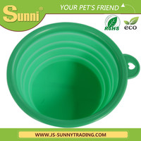 wholesale dog bowl with lid silicone collapsible bowl